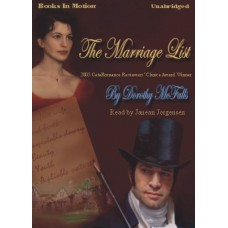 THE MARRIAGE LIST, download, by Dorothy McFalls, Read by Janean Jorgensen
